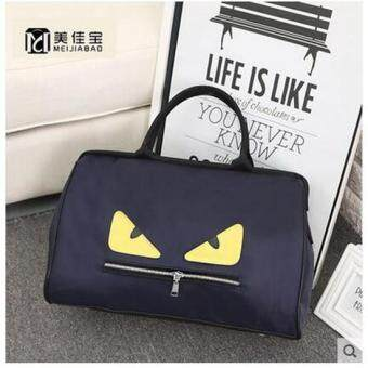 Harga 2017 little monster travel bag female nylon waterproof women luggage travel bags weekend overnight bag(M size) - intl