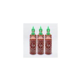 Harga Sriracha Hot Chili Sauce (Huy Fong Rooster) 435 ml x 6 bottles from California USA.