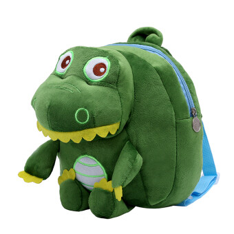 Harga Fashion 2-8 Years Old Baby Plush Cute Lovely Kindergarten Backpacks(Color:Green Dinosaur) - intl