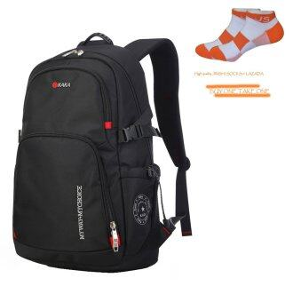 Harga KAKA-8808 New Fashion Backpack, Travel Bag, School Bag, Business Bag, Lover Bags, Large Capacity, Water-Proof-- Black - Intl