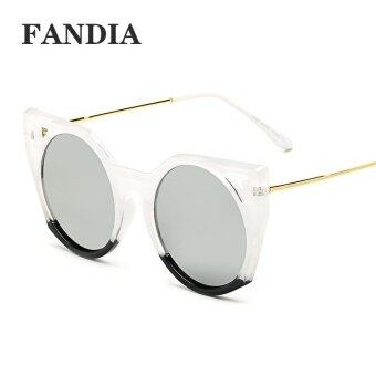 Harga women fashion brand sunglasses with box color grey - intl