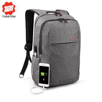 Harga Tigernu Anti-thief Backpack With External USB Charging interface for12-15inches Laptop3090(grey) - intl