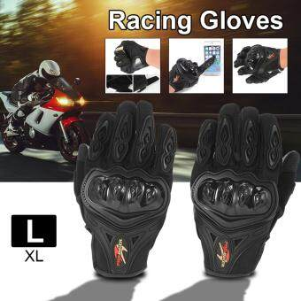 Harga Pro-biker Full Finger Motorcycle Motorbike Motocross Racing Gloves Cycling Bike Knuckle Protective Gloves Black L