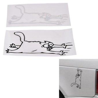 Harga Cat Scratches Decal Decor 4 Colors Stickerbomb Car Case Decoration Decal White - intl