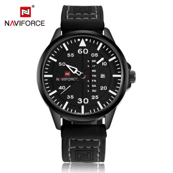 Harga NAVIFORCE Chic Fashion Man Watch 3ATM Water Resistant High Quality Analog Quartz Wristwatch with Date Week Display - Intl