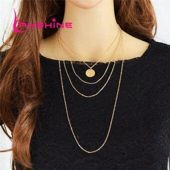 Harga Kayshine Rock Style Multilayer Gold Color Long Chain Necklace - intl