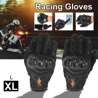 Harga Pro-biker Full Finger Motorcycle Motorbike Motocross Racing Gloves Cycling Bike Knuckle Protective Gloves Black XL