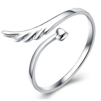 Harga Velishy 925 Silver Plated Heart Wing Opening Ring