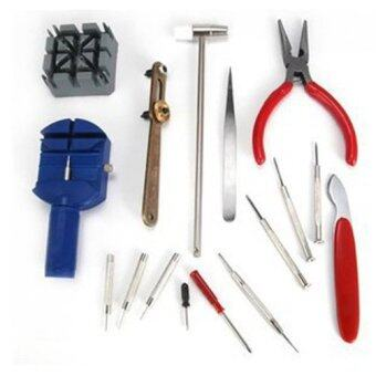 Harga Fancytoy 16pcs Watch Repair Kit Set & Wrist Strap Adjust Tool Kit Back Remover Fix - intl