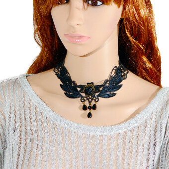 Harga Fashion Party Lace Necklace Pendants Jewelry Halloween Supplies