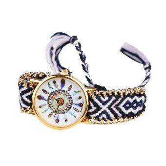 Harga Leisure Fashion Feather Figure Weaving Lady Bracelet Table Multicolor