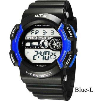 Harga O.T.S Fashion Kids Sports Watch Student Casual Waterproof Electronic Chronograph Children Watch Outdoor Watch 6900 - Blue (L) - intl