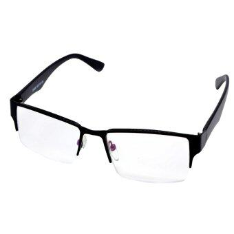 Harga TITANIUM ALLOY TR90 RECTANGULAR HALFRIM MEN WOMENREADING GLASSES +1