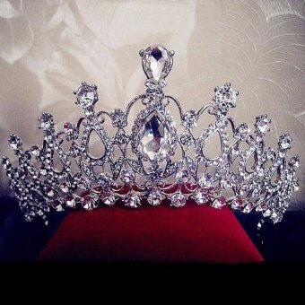 Harga Beauty Pageant Queen Rhinestone Bridal Wedding Prom Tiara Comb Crown Fashion USA Silver - intl