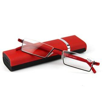 Harga Lightweight tr90 Half-frame Reading Glasses +1.5 (Red)