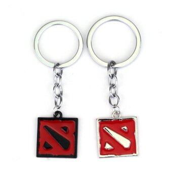 Harga High Quality New Online Games Around Drop Shipping Hot DOTA 2 Flag Women Men Keychain Dota 2 Key Chain Keyring - intl