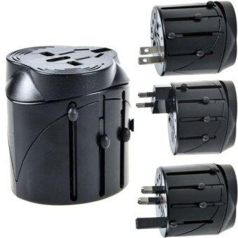 Harga Global Worldwide Travel Power Plug Adapter Socket Converter(Black) - intl
