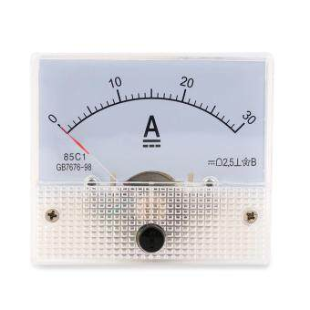 Harga Beau DC 30A Analog Ammeter Panel AMP Current Meter 0-30A DC Doesn't Need Shunt white - intl
