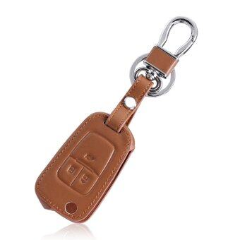 Harga brown Leather car key chain key case key cover For Chevrolet Cruze AVEO SAIL TRAX MALIBU CAPTIVA Etc