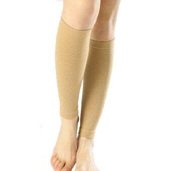 Harga Channy 1X Calf Shin Leg Sleeve Brace Support Compression Wrap Prevention Varicose Veins M NEW - intl