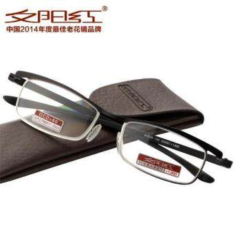 Harga TR90 super light reading glasses reading glasses hd resin stainless steel +2.00