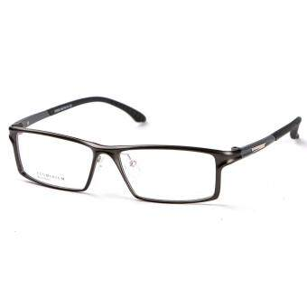 Harga Stallane Optical Glasses Frame Aluminum Business Eyebrow Full Frame Brand Eyewear Tr90 Eyeglasses for Men (Black)
