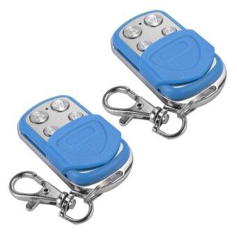 Harga 2pcs Universal Keyless Entry Electric Cloning Gate Garage Door Fob Remote Control Key Fob 433mhz/433.92mhz Blue