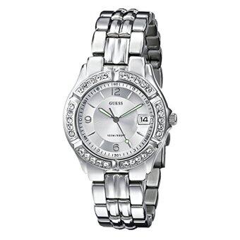 Harga GUESS Women's G75511M Mid-Size Sporty Chic Crystal-Accented Silver-Tone Watch (Intl)
