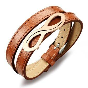 Harga ZUNCLE European Style Punk Retro leather bracelet jewelry wholesale (Coffee)