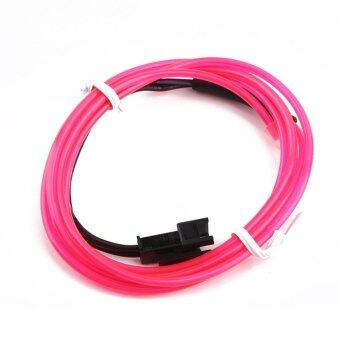 Harga Beau 3M Colorful Flexible EL Wire Tube Rope Neon Light Glow Car Party Decor Pink - intl