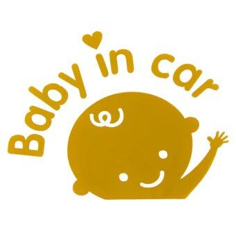 Harga BolehDeals Baby Boy in Car Removable Car Sticker Vinyl Decal Art DIY Car Decor Yellow