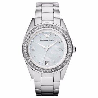 Harga Emporio Armani Women's Classic AR5992 Silver Stainless-Steel Analog Quartz Watch with Mother-Of-Pearl Dial