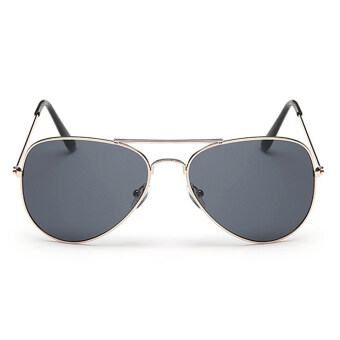Harga New Fashion Style Women Sunglasses Round Lenses Sunglasses-Gold Grey