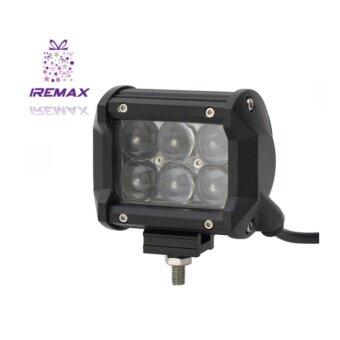 "iRemax 18 W LED 4"" ไฟสปอตไลต์ LED Off Road Light Bar ไฟตัดหมอกมอเตอร์ไซต์ ATV ออฟโรด 6 ดวง (จำนวน 2ชิ้น)-ไฟสีขาว - 2"