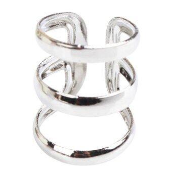 Jewelry Punk Rock Ear Clip Cuff Wrap No piercing-Clip On Earrings Silvery