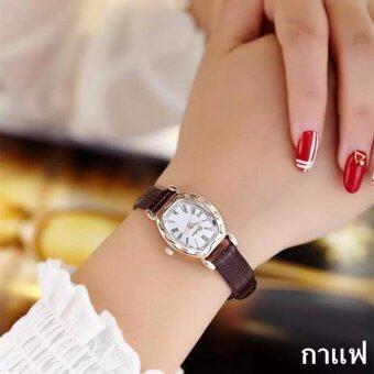 2561 JJ แฟชั่นผู้หญิง Watch นาฬิกาข้อมือผู้หญิง สายหนังพียู รุ่น (brown)