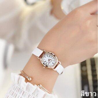 2561 JJ แฟชั่นผู้หญิง Watch นาฬิกาข้อมือผู้หญิง สายหนังพียู รุ่น (white)