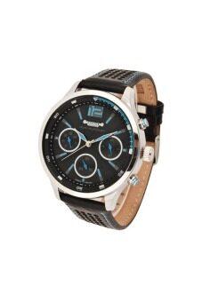 2561 Julius Homme นาฬิกาสำหรับผู้ชาย สีดำ/ฟ้า สายหนัง รุ่น JAH-052
