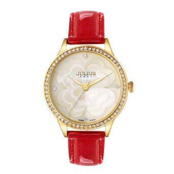 ประเทศไทย Julius นาฬิกาข้อมือผู้หญิง สายหนัง รุ่น J803 (red)