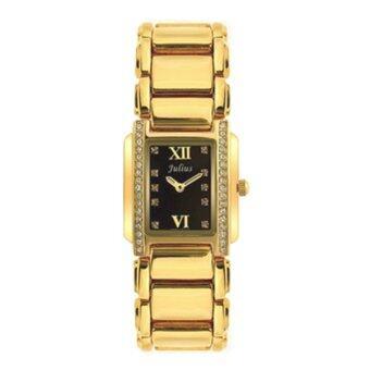 ซื้อ/ขาย Julius นาฬิกาข้อมือผู้หญิง สาย/ตัวเรือน โลหะผสม รุ่น J812 (gold/bl)