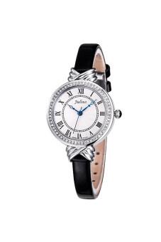 ราคา Julius นาฬิกาสำหรับผู้หญิง สายหนัง รุ่น JA-262 - ดำ
