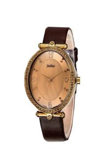 2561 Julius นาฬิกาสำหรับผู้หญิง สายหนัง รุ่น JA-362 น้ำตาล