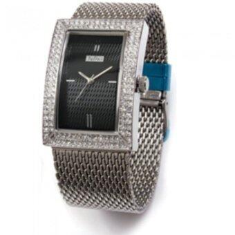 ซื้อ/ขาย Julius นาฬิกาสำหรับผู้หญิง รุ่น JA-428 สายสแตนเลส สีเงินหน้าดำ