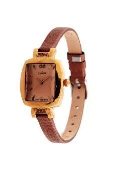 2561 Julius นาฬิกาสำหรับผู้หญิง สีน้ำตาล สายหนัง รุ่น JA-572