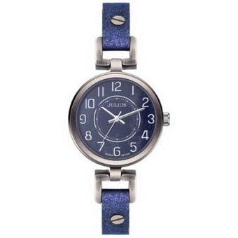 ประเทศไทย Julius นาฬิกาข้อมือผู้หญิง สีน้ำเงิน สายหนัง รุ่น JA-845B