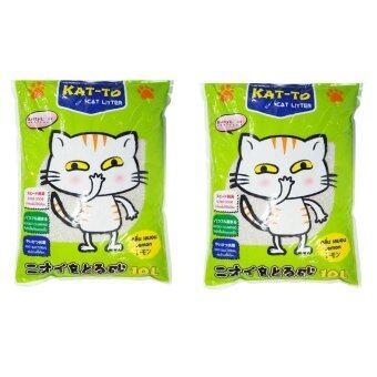 รีวิว KAT-TO ทรายแมว กลิ่นมะนาว 10L ( 2 units )
