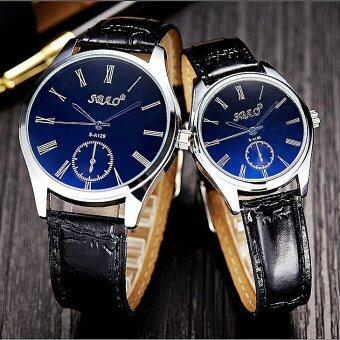 ราคา KATI watchนาฬิกาข้อมืออนาล็อก สายหนัง หน้าปัดสี ตัวเลขโรมัน นาฬิกาแฟชั่นผู้หญิง นาฬิกาแฟชั่นผู้ชายWatch00090-blue-blackสีน้ำเงิน-ดำ