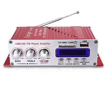 Harga Kentiger HY - 400 Hi-Fi Bass Audio Stereo Power Amplifier with FMLCD Display