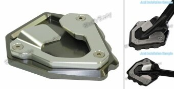Kickstand Foot Side Stand Extension Pad Support Plate For HondaCRF1000L Africa Twin ABS/DCT 2016 2017 Grey - intl