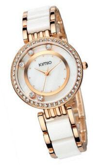 Kimio นาฬิกาข้อมือผู้หญิง สาย Alloy รุ่น K485 - สีขาว/ทอง pantip